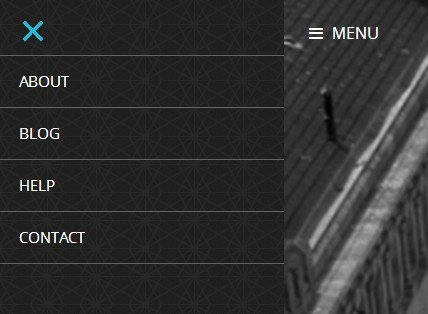 Minimalist Responsive Push Menu with jQuery and CSS3
