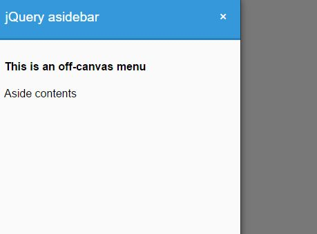 Minimalist Sidebar Offcanvas Menu Plugin With jQuery - asidebar