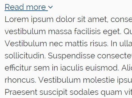Minimalist jQuery Content Toggle Plugin - read-more