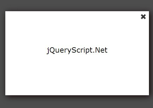 Minimalist jQuery Modal Popup Box Plugin - Simple Popup