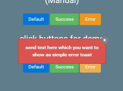 Minimalist jQuery Toast Notification Plugin - simpleToastMessage