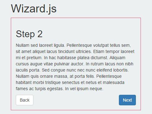Minimal Step By Step Progress Plugin With jQuery - Wizard.js