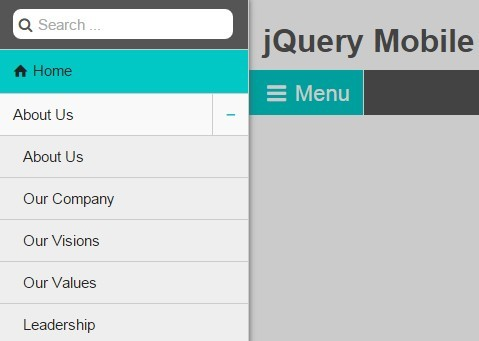 Mobile First Off-canvas Menu Plugin with jQuery