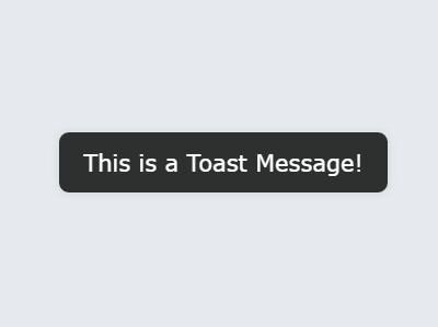 Mobile First Toast Message Plugin With jQuery - showToast