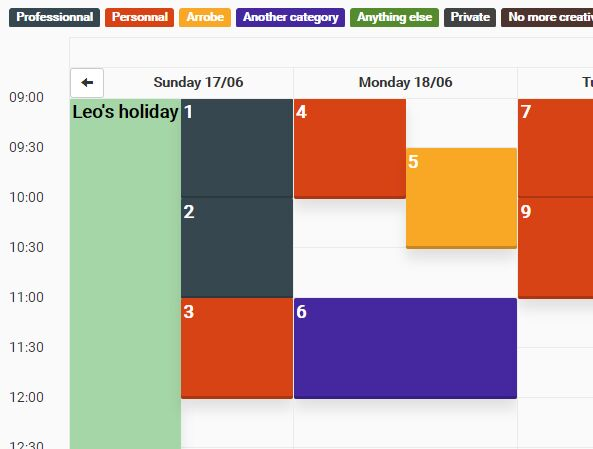 Full Size and Drag & Drop Calendar Plugin - FullCalendar | Free