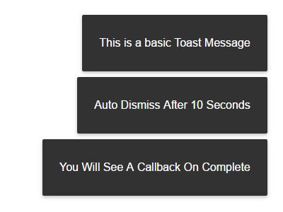 Mobile Friendly Material Toast Plugin With jQuery - Toast.js