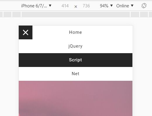 Mobile-friendly Hamburger Menu In jQuery And CSS3