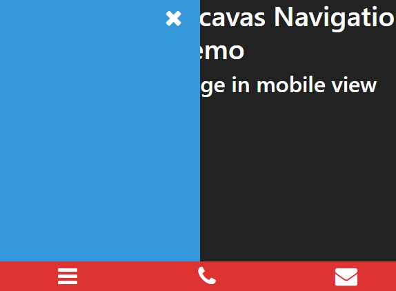 Mobile-first Offcavas Navigation With jQuery