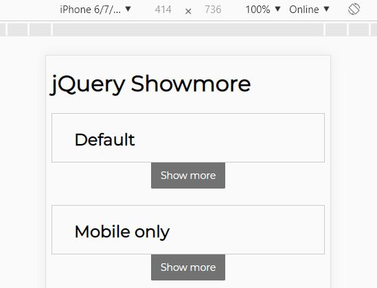 Mobile-compatible Read More/Read Less Plugin - jQuery Showmore