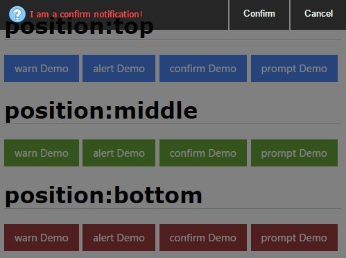 Mobile-first jQuery Notification & Dialog Plugin - mobiDialog
