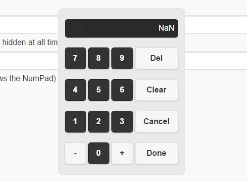 Mobile-friendly Numeric Keypad Plugin For jQuery - NumPad