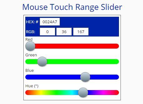 Mobile-friendly Range Slider Plugin With jQuery - MT-RangeSlider