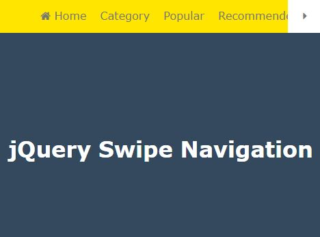 Mobile-friendly Responsive Navigation Plugin - Swipe Navigation