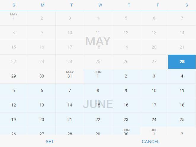 Mobile-friendly Sliding Date Picker Plugin - futureDatepicker