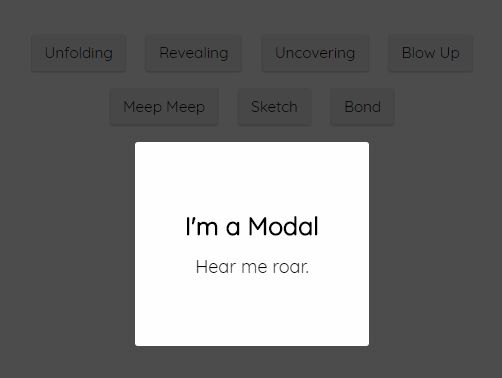 Fancy Modal Animations With jQuery And CSS3 - modalAnimate.js