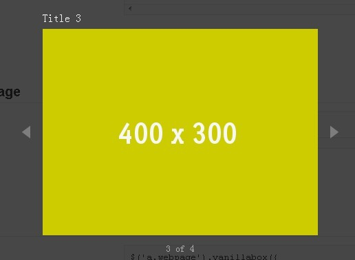 Modern and Flexible jQuery Lightbox Plugin - Vanillabox