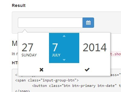 Modern and Slick Date Picker Plugin For jQuery - DateSelect