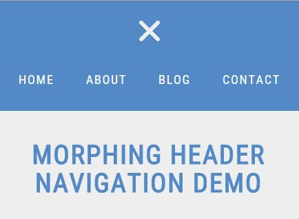 Morphing Header Navigation with jQuery and CSS3