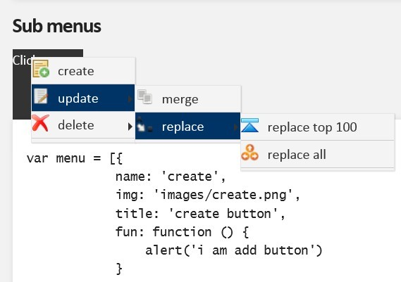 Multi Functional Windows Like Context Menu Plugin - contextMenu.js