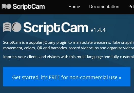 JQuery Webcam Plugins JQuery Script