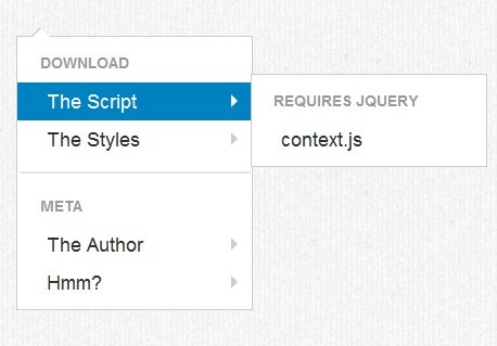 Multi-Level Right-Click (Context) Menu with jQuery and