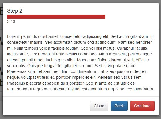 Multi-step Modal Wizard Plugin With jQuery And Bootstrap - Multi-Step Modal