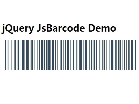 Multifunctional Barcode Generator with jQuery and Html5 Canvas - JsBarcode