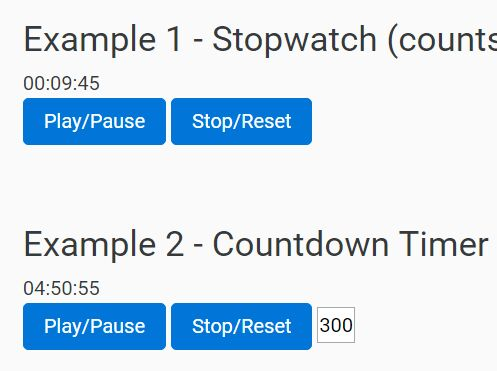 Multifunctional jQuery Countdown / Stopwatch Plugin - Timer js