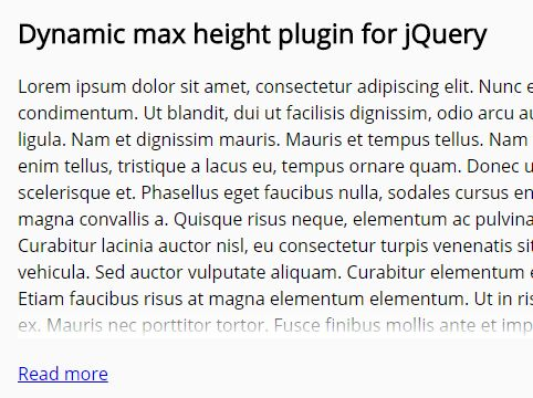 Multiline Text Truncation Plugin With jQuery - Dynamic Max Height