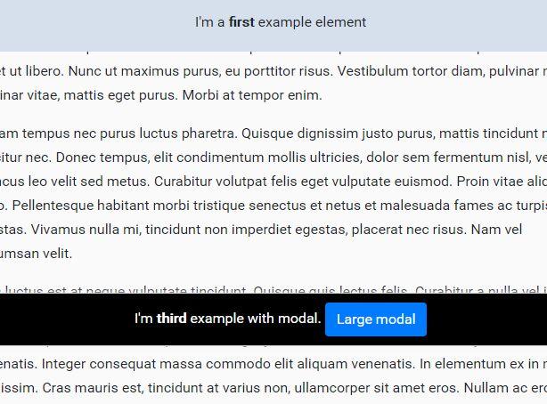 jQuery Plugin For Multiple Sticky Elements - stickyElement.js