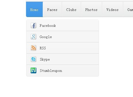 Neat and modern Dropdown Nav Menu with Pure CSS3