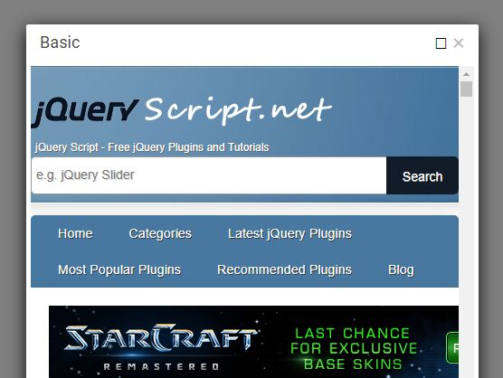 Nested Customizable Modal Plugin For Bootstrap - bDialog