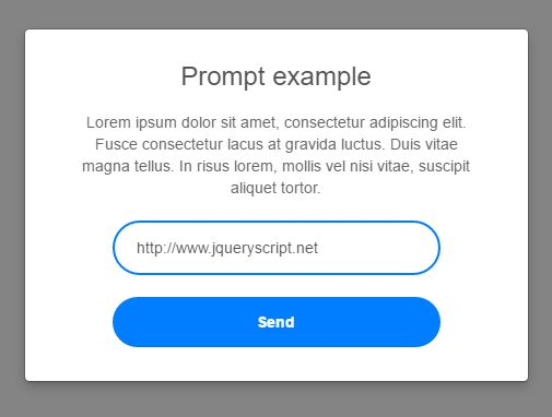 Nice Alert, Prompt And Confirmation Dialog Plugin - Dialog.js
