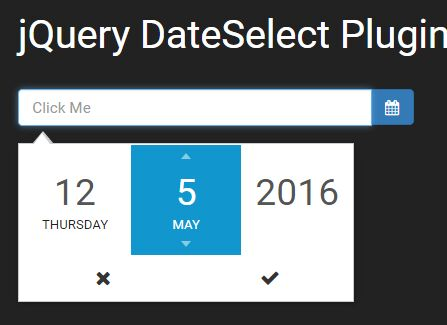 Nice Scrollable Date Selector Plugin With jQuery - DateSelect