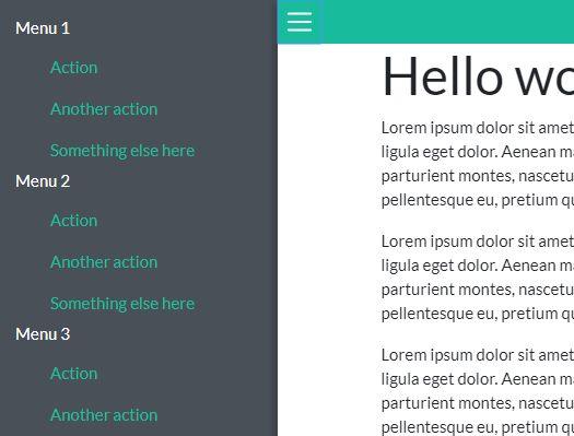 bootstrap 4 sidebar menu responsive