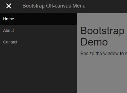 Off-canvas Push Menu jQuery Plugin For Bootstrap