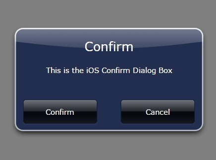 Old iOS Style Dialog Box Plugin For jQuery