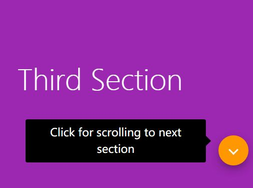 One Page Scroll Nav Button - jQuery Section Scroller