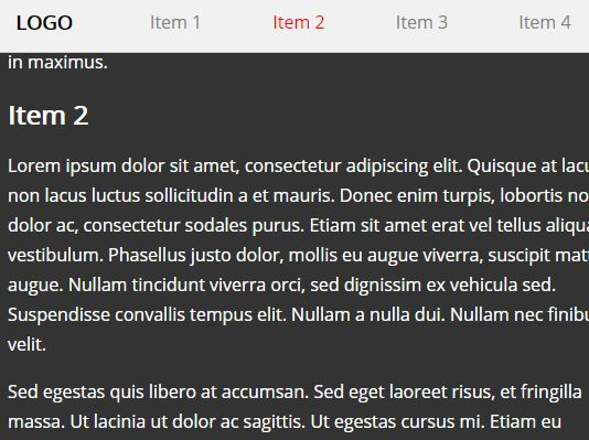 One Page Scroll Navigation Bar With jQuery - scroll-navigation