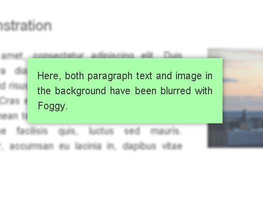 Page Elements Blurring Plugin For jQuery - foggy