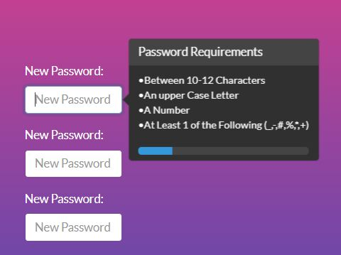 Password Strenth Checker Plugin For Bootstrap - Password Validator