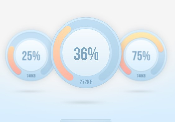 Percentage Loader - jQuery Progress Bar Plugin