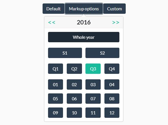 Multifunction Period Picker Plugin For Bootstrap 4 - Cari periodPicker