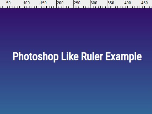 Create A Photoshop Like Ruler With jQuery - Ruler.js