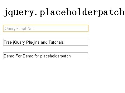 Placeholder Patch for Older Browsers - jQuery placeholderpatch