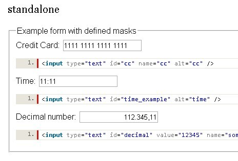 Powerful jQuery Text Input Mask Plugin - MeioMask