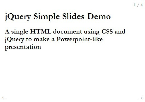 Powerpoint-like jQuery Full Page Slider Plugin - Simple Slides