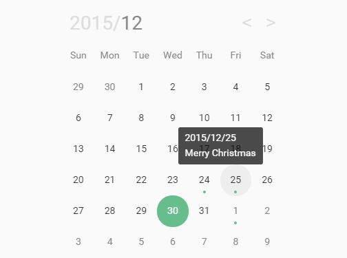 Pretty Event Calendar & Datepicker Plugin For jQuery - Calendar.js