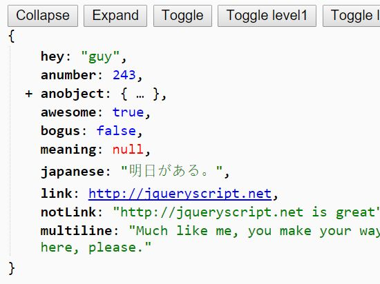 Pretty JSON Formatting and Syntax Highlighting Plugin - JSONView