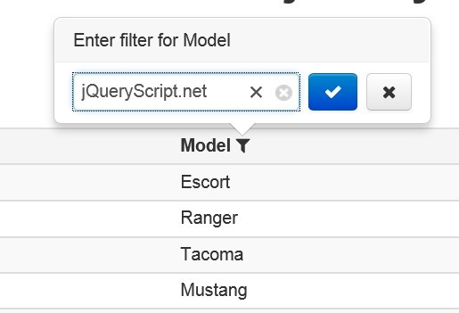 Pretty Table Filter Plugin With jQuery and Bootstrap - Filterable